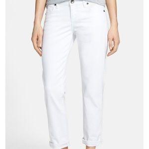 Kut from the Kloth Catherine White boyfriend jeans